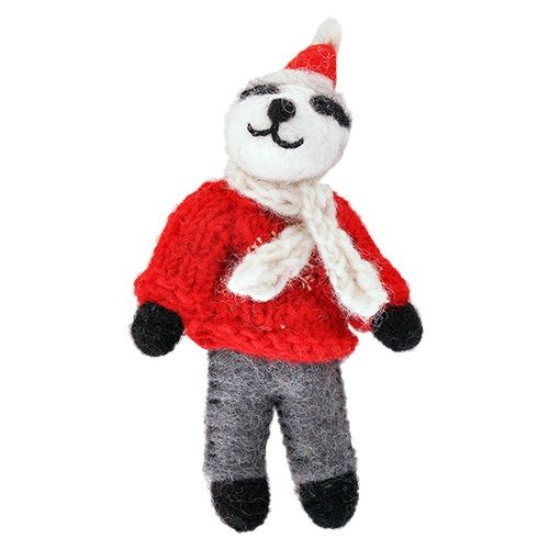 Badger in jumper decoration 82102 for Badger christmas decoration